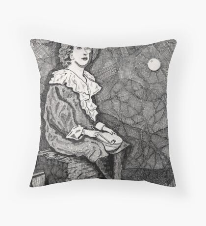 147 - BUBBLES VARIATION I - DAVE EDWARDS-  INK - 1988 Throw Pillow