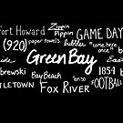 Green Bay Phrases - White by GBSwagShop
