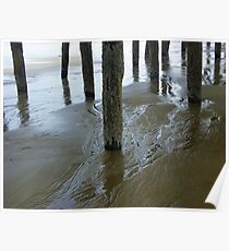 Water Trails under the Pier Poster