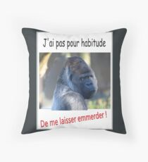 I do not have a habit Throw Pillow