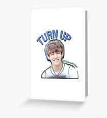 [V] TURN UP! Greeting Card