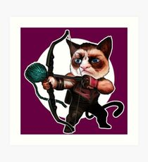 HAWKEYE CAT Art Print