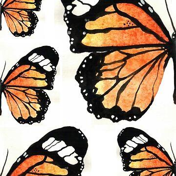 Orange Butterflies by Gambargombor