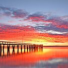 Fire on the Bay - Wellington Point Qld by Beth  Wode