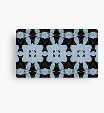 SKY BLUE LATTICE: Kaleider pattern 02 Canvas Print