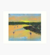 Sunrise over Georges River  Art Print