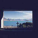 View from the Church of the Good Shepherd, Lake Tekapo New Zealand by Adrian Paul