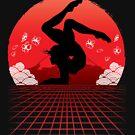 Gymnastics Vaporwave Retro Art by jaygo