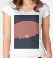 Colourful Sun Women's Fitted Scoop T-Shirt