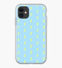 Weather Lovers Gift - Bright Yellow Lightning Bolt on Sky Blue - Meteorologist Present iPhone Case