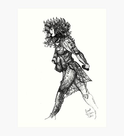 Walk tall [Pen Drawn Figure Illustration] Art Print
