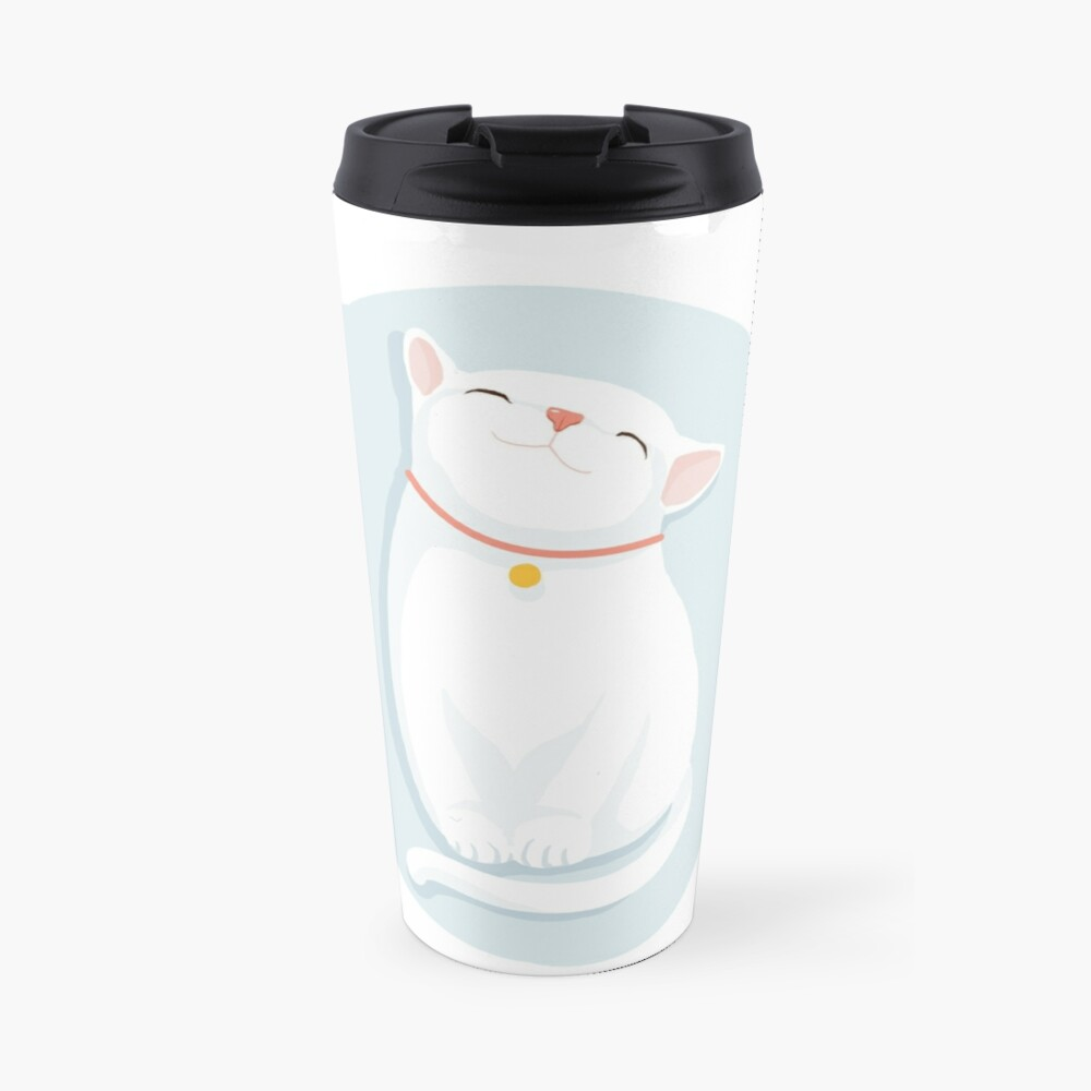 Cat White Travel Mug