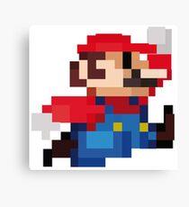 Mario 8 Bits Canvas Print