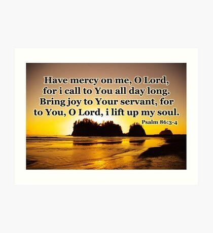 sunset gold prayer psalm Art Print