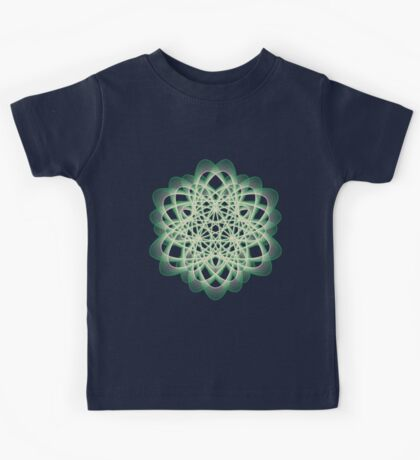 Abstract Sea Green Spiral Lines Kids Clothes