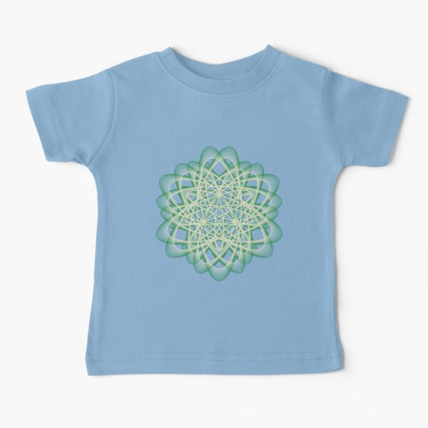 Abstract Sea Green Spiral Lines Baby T-Shirt
