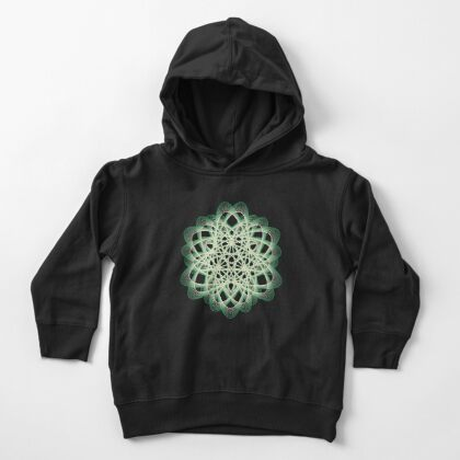 Abstract Sea Green Spiral Lines Toddler Pullover Hoodie