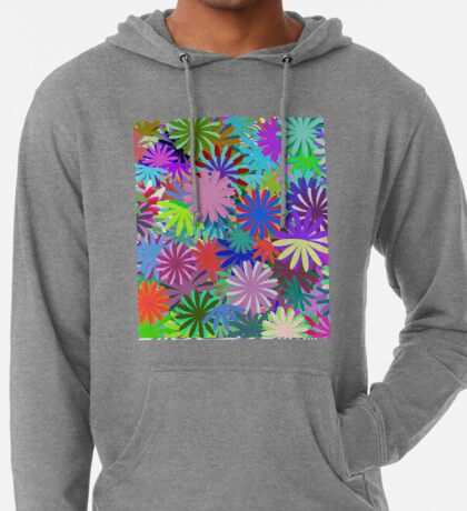 Meadow of Colorful Daisies Lightweight Hoodie