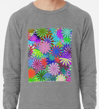 Meadow of Colorful Daisies Lightweight Sweatshirt