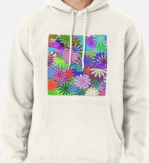 Meadow of Colorful Daisies Pullover Hoodie