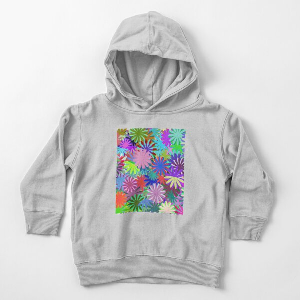 Meadow of Colorful Daisies Toddler Pullover Hoodie