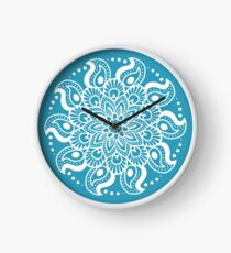 Winter Blue Mandala Clock