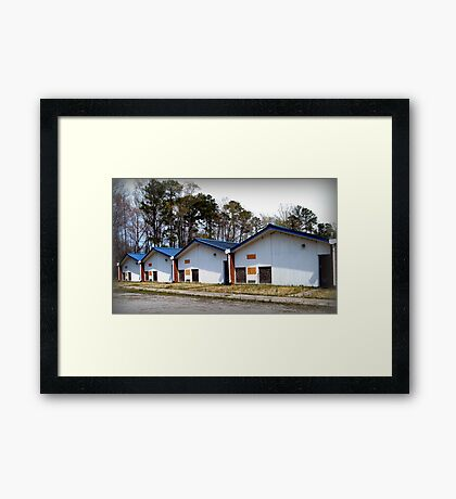 Empty Classrooms Framed Print