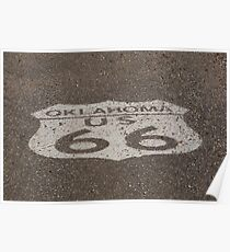 Route 66 - Oklahoma Shield Poster