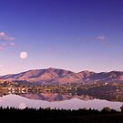 Moonrise Over Wapato Lake. by Alex Preiss