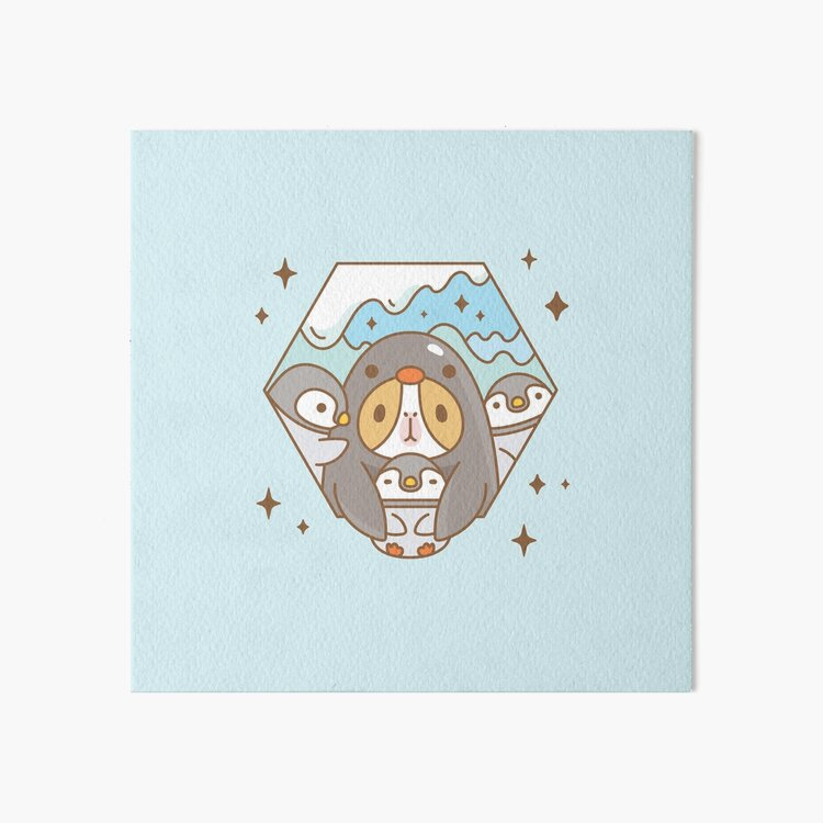 Bubu the Guinea pig, Penguin Baby Sitter  Art Board Print
