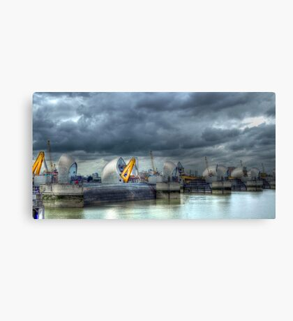 Thames Barrier HDR Canvas Print