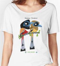 Malabar Trogon caricature Women's Relaxed Fit T-Shirt