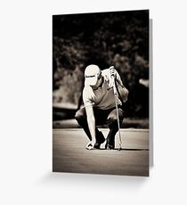 Eduardo Molinari on the 17th Green - NGC2010 Greeting Card