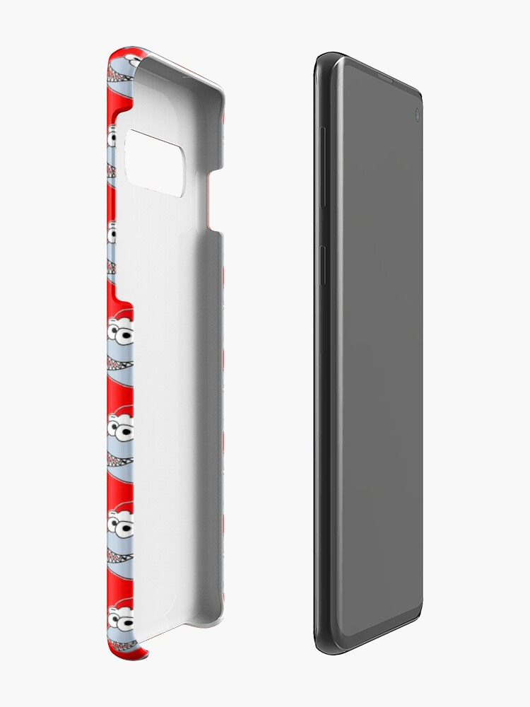 Alternate view of Cute Christmas Shark - on red Case & Skin for Samsung Galaxy