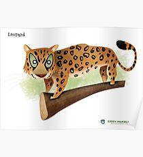 Leopard Caricature Poster