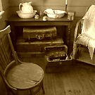Interior, the old Homestead, Churchill Island by Roz McQuillan