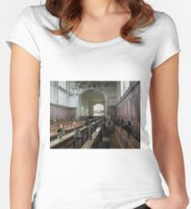Guild Chapel Interior, Stratford Upon Avon, England. Women's Fitted Scoop T-Shirt
