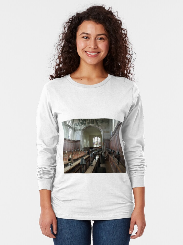 Alternate view of Guild Chapel Interior, Stratford Upon Avon, England. Long Sleeve T-Shirt