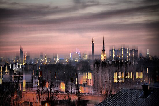 Dreamy City Skyline by KarenM
