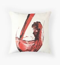 Lets have a good wine.. Throw Pillow