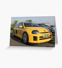 Renault Clio V6 Greeting Card