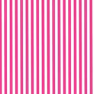 Neon pink white minimalist geometrical stripes by Kicksdesign