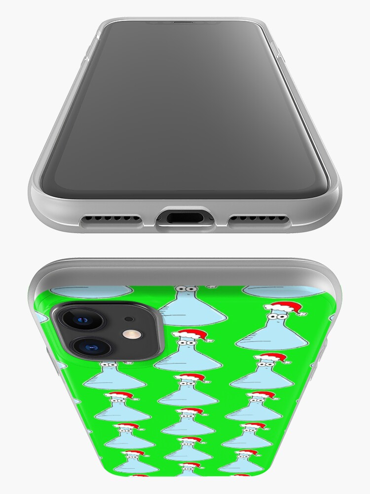 Alternate view of Christmas Flask - on green iPhone Case & Cover