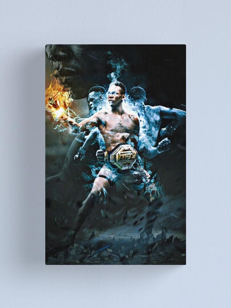 Alternate view of UFC israel Adesanya  Canvas Print