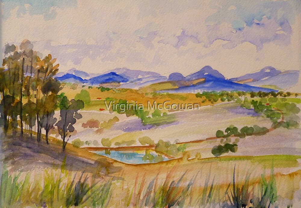Boonah Panorama From Tunstall Road by Virginia McGowan