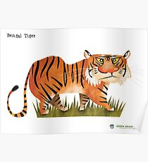 Bengal Tiger caricature Poster