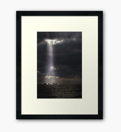 Let The Light Shine Down  Framed Print