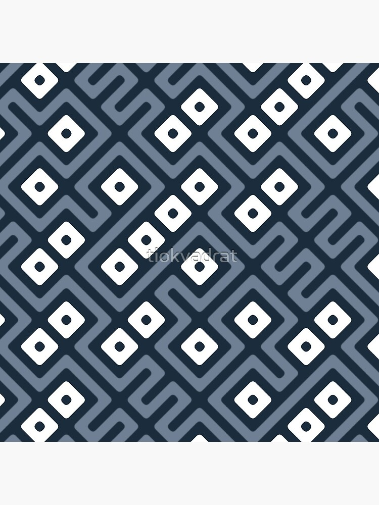 Maze Abstract Pattern - Gray / White by tiokvadrat