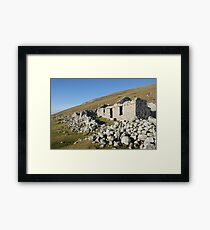 Old deserted house in Port Framed Print