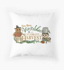 """Don Your Vegetables and Celebrate the Harvest"" Floor Pillow"